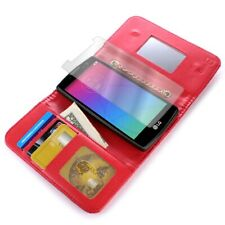 Wallet Case for LG Escape 2 / Logos / Spirit - Red Credit Card Cover + Screen