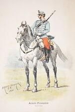 ARMEE FRANCAISE-HUSSARD DUMARESQ GRAVURE COULEURS 1890-R921