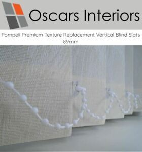 """Pompeii Luxury Patterned Welded Made 2 Measure Replacement Blind Slats 5"""" 127mm<"""