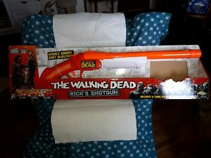The Walking Dead Nerf Shotgun Rick's Shotgun Good Condition Includes 1 Shell,Box