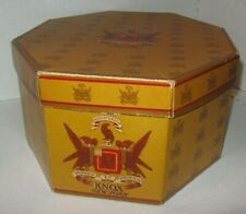 Vintage Knox New York Red/ Brown/Gold Octagon Double Hat Box