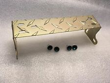Cobra 148 & DX  Radio Redman Cb GOLD Aluminum Diamond Plate Bracket Jewel Knobs