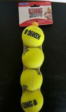 KONG Squeak Air Tennis Ball Dog Toy Yellow Size M  4ct New