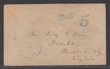 **CSA Cover, Charlottesville, VA, Handstamped, Paid 5 (Style II), 7/16/1861