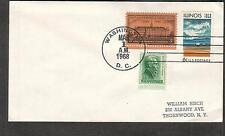 1968 first flight cover Mohawk Airlines Washington DC to White Plains NY