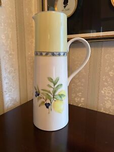 Large Tall Royal Doulton CARMINA FineChina Jug Lemon Tree TC 1277 Pitcher