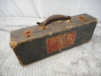 Antique Bb Clarinet Case With Indiana University Sticker For Restore Art Prop