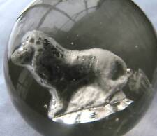 """Sulfide Marble 1 3/4"""" with Lion"""
