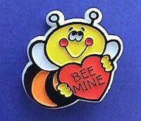 Hallmark PIN Valentines Vintage BUMBLEBEE HEART BEE MINE Holiday Brooch