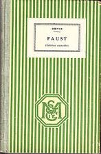 C1 Allemagne GOETHE En Allemand FAUST Relie Notes en Francais