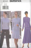 Butterick 6341 Misses'/Miss Petite Jacket, Skirt & Pants 6, 8, 10 Sewing Pattern