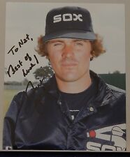 """AUTOGRAPHED COLOR 8 X 10"""" PHOTO>> MLB>> BART JOHNSON>> CHICAGO WHITE SOX"""