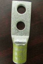 "BURNDY THOMAS & BETTS 4/0 Yellow Die Crimp on Paddle Lug Connector 1/2"" Holes"