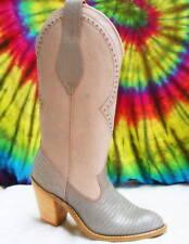 sz 5 M vtg 80s gray ACME DINGO leather cowboy boots NOS