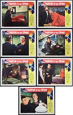 THE PHANTOM OF THE OPERA HERBERT LOM HAMMER HORROR 1962 SEVEN LOBBY CARDS