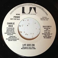 Charlie Rich 45 Life Goes On  PROMO  EX