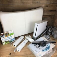 Nintendo Wii Bundle + Wii Fit Balance Board + 2 Controllers + 2 Games VGC