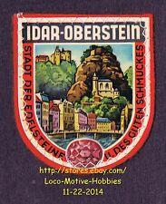 LMH PATCH Woven Badge  IDAR OBERSTEIN Stadt der Edelsteine GERMANY Gemstone City