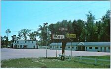 BARRIE, Ontario  Canada  Roadside LOR LEE MOTEL Texaco Station   Postcard