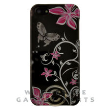 Apple iPhone 5/5S/SE Shield - Pink Flowers/Butterfly Case Cover Shell Shield