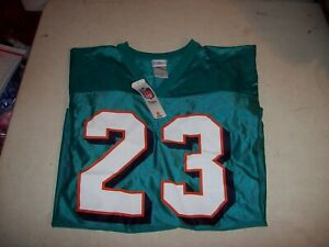 NFL Team Apparel Men's Medium Miami Dolphins #23 Ronnie Brown Jersey NEW W/ TAGS