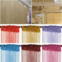 String Door Curtains Room Divider Window Panel Silver Tassel Fly Screen Fringe