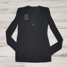 $149 Patrizia Pepe Firenze Italy Women's  Sweater Top  New Size Italy 1 Black