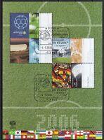 BRD 2006 gestempelt ESST MiNr. Block 67 Fußball-Weltmeisterschaft in Deutschland