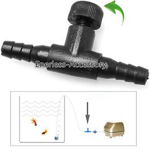 Fish tank Aquarium Adjustable Air Switch Oxygen Valve Tee Regulator
