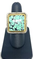 GURHAN Turquoise 24K Gold & Sterling Silver Statement Ring