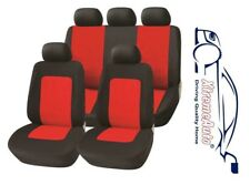 11 PCE Glastonbury Grey/Red Car Seat Covers For Skoda Fabia Octavia Superb Citig