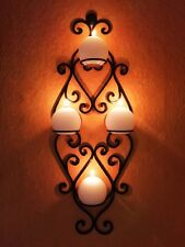Mediterraner Vintage Landhaus Wandleuchter Wandkerzenhalter Kerzenleuchter 66cm