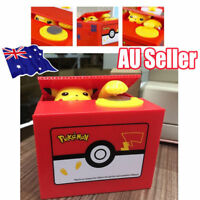 Pokemon Pikachu Moving Electronic Coin Money Piggy Bank Savings Box Xmas Gift AX
