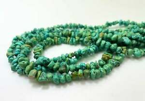 Genuine Natural Turquoise Smooth Rough Nugget Chip Loose Gemstone Beads - PGS339