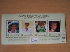 St.Helena,Diana,1997,M/Sh eet Of 4 Vals,U/Mint,Excellent.