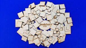 Wooden Squares - Laser Cut MDF Blank Embellishments / Craft Decorations / Shapes