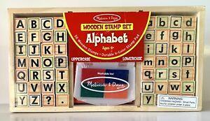 Melissa and Doug Wooden Stamp Set – Alphabet