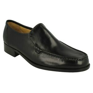 MENS THOMAS BLUNT LEATHER SLIP ON SMART PARTY OCCASION WORK SHOES SIZE ILLINOIS