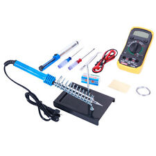 10in1 110V 60W Hot Electric Soldering Iron Kit with Desoldering Pump Multimeter