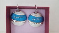 Orecchini Byblos Temptation Tondo Blu Acciaio Earrings Steel