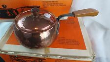 VINTAGE STOCKLI COPPER POT WITH DOUBLE WARMER & SKEWERS ORIGINAL BOXES
