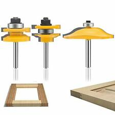 Oletbe 3 Pcs Router Bit Set 14 Inch Shank Round Over Raised Panel Cabinet Do