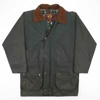 Vintage RICHMOND FOREST Green Wax Flannel Lined Jacket Size Men's Small