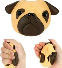 Squishy Bulldog Head Pug Scented Slow Rising Squeeze Boys Girls Toys UK 4.8inch