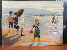 Vintage Oil On Canvas Board Painting,Signed By Artist