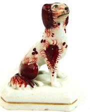 ANTIQUE VICTORIAN STAFFORDSHIRE DOG SMALL MINIATURE SIZE 8.5cm 3 1/4""