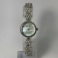 Sekonda Womens 2087G Silver Diamond Mother Of Pearl Dial Analog Bracelet Watch