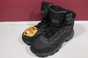NWT Men's Magnum Austin Mid Steel Toe WaterProof Work Boot Black Size 8.0