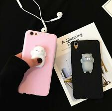 Squishy Cute 3D Soft Silicone Cat TPU Case Cover For iPhone 5/6/7 Samsung Note/S