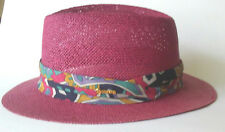 NWOT Biltmore Straw Hat Unisex Genuine Milan size 7 3/8th- 59cm Made in Canada!